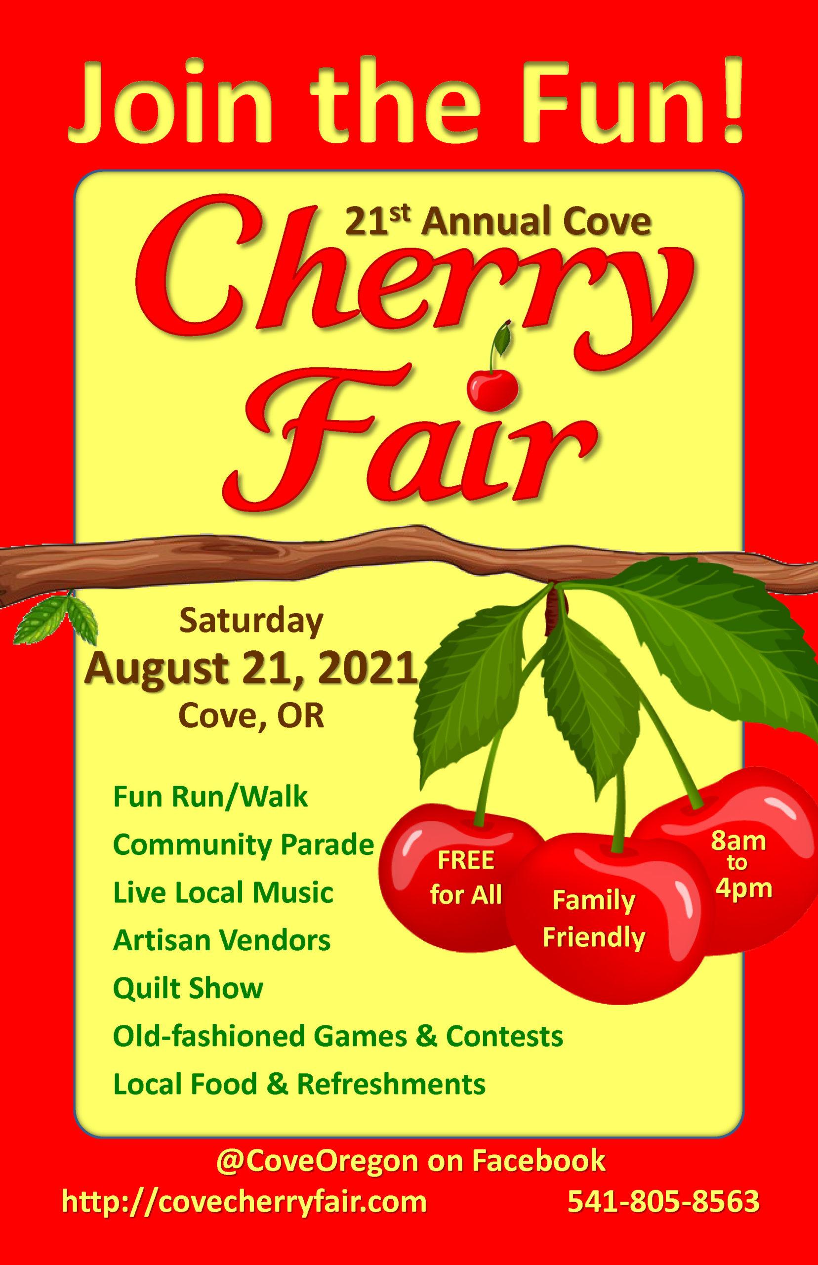 twenty twenty-one Cherry Fair Poster